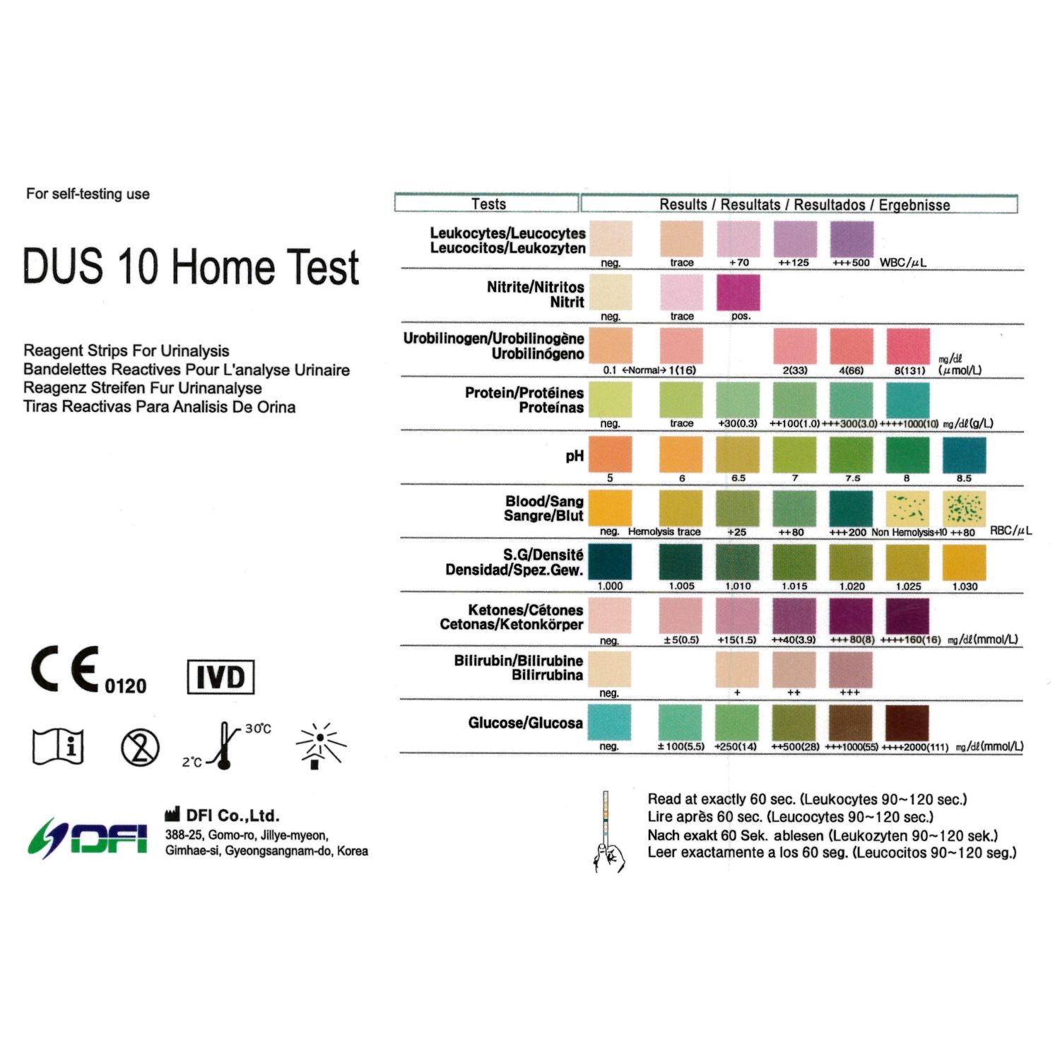 10 Parameter Urine Test Strips 100 Pack Age Co Incontinence Ageukincontinence Co Uk
