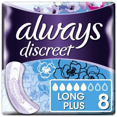 Always Discreet Pads Long Plus (903ml) 8 Pack