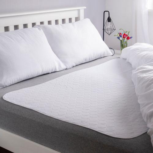 Vivactive Washable Bed Pad White (3500ml) Double