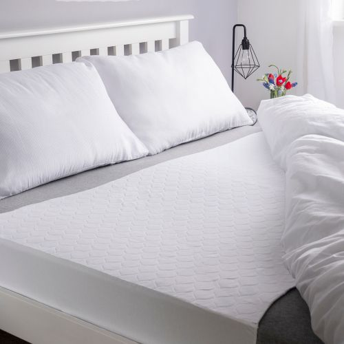 Vivactive Washable Bed Pad White With Tuck In Sides (4000ml) King Size
