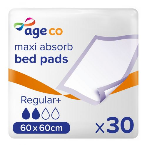 Age Co Maxi Absorb Bed Pads Regular+ 60x60cm (1170ml) 30 Pack - mobile