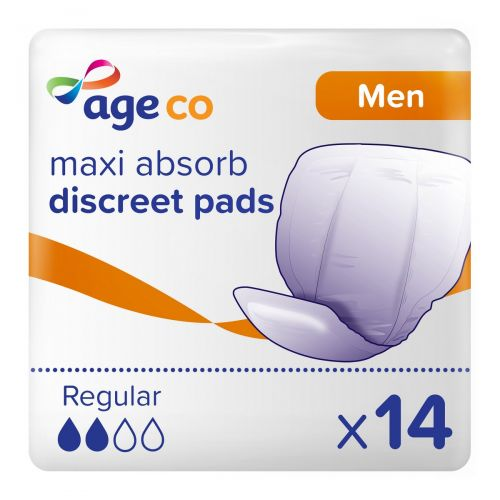 Age Co Men's Maxi Absorb Discreet Pads (650ml) 14 Pack - mobile