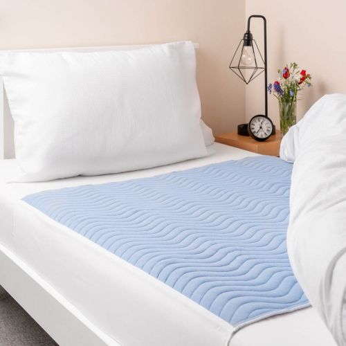 Vivactive Washable Bed Pad Blue With Tuck In Sides (3000ml) Single
