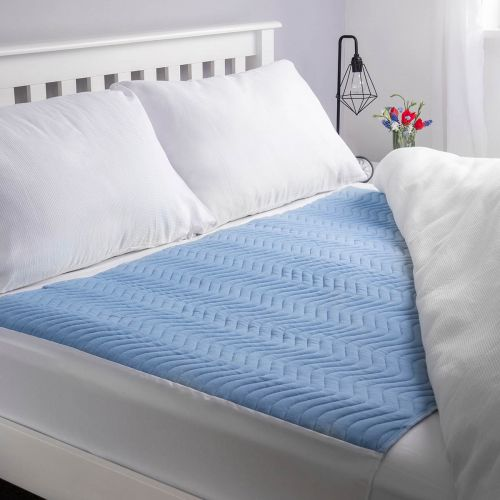 Vivactive Washable Bed Pad Blue With Tuck In Sides (5000ml) King Size