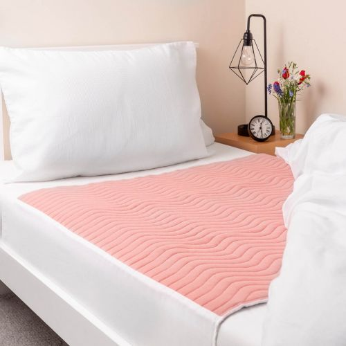 Vivactive Washable Bed Pad Pink With Tuck In Sides (3000ml) Single
